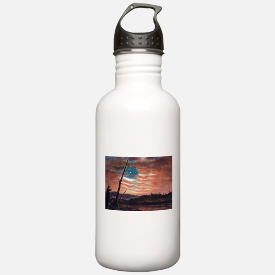 Frederic Edwin Church Banner In The Sky Water Bottle