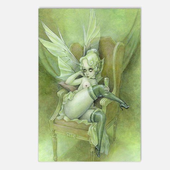 Vintage Chick Sexy Green Fairy Postcards (Package