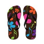 Marching Band Music Flowers Flip Flops
