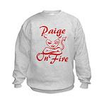 Paige On Fire Kids Sweatshirt