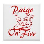 Paige On Fire Tile Coaster