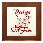 Paige On Fire Framed Tile