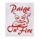 Paige On Fire Throw Blanket