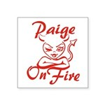 Paige On Fire Square Sticker 3