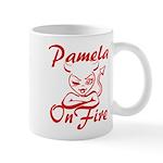 Pamela On Fire Mug