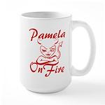 Pamela On Fire Large Mug