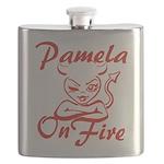 Pamela On Fire Flask