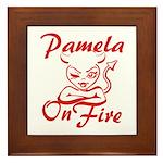 Pamela On Fire Framed Tile