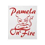 Pamela On Fire Throw Blanket
