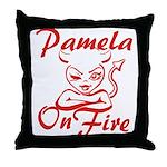 Pamela On Fire Throw Pillow