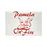 Pamela On Fire Rectangle Magnet