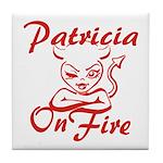 Patricia On Fire Tile Coaster