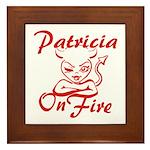 Patricia On Fire Framed Tile