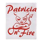 Patricia On Fire Throw Blanket