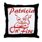 Patricia On Fire Throw Pillow