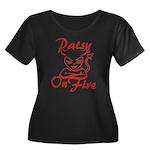 Patsy On Fire Women's Plus Size Scoop Neck Dark T-