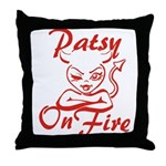 Patsy On Fire Throw Pillow