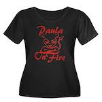 Paula On Fire Women's Plus Size Scoop Neck Dark T-