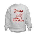 Paula On Fire Kids Sweatshirt