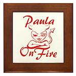 Paula On Fire Framed Tile