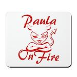 Paula On Fire Mousepad