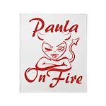 Paula On Fire Throw Blanket