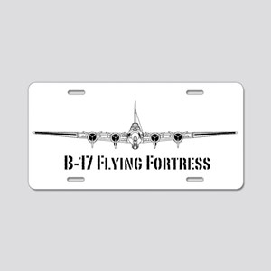 B-17 Flying Fortress Aluminum License Plate