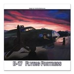 B-17 Flying Fortress Square Car Magnet 3