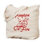 Payton On Fire Tote Bag
