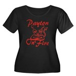 Payton On Fire Women's Plus Size Scoop Neck Dark T