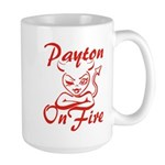 Payton On Fire Large Mug