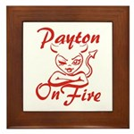 Payton On Fire Framed Tile