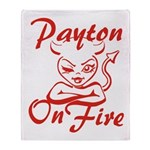 Payton On Fire Throw Blanket