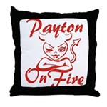 Payton On Fire Throw Pillow