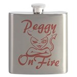 Peggy On Fire Flask