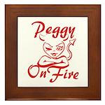 Peggy On Fire Framed Tile