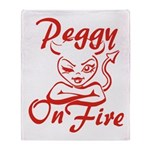 Peggy On Fire Throw Blanket