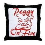 Peggy On Fire Throw Pillow