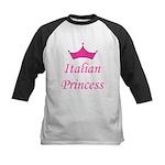 Italian Princess Kids Baseball Jersey