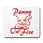 Penny On Fire Mousepad
