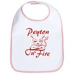 Peyton On Fire Bib