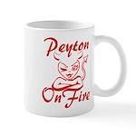 Peyton On Fire Mug