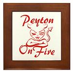 Peyton On Fire Framed Tile