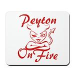 Peyton On Fire Mousepad