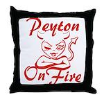 Peyton On Fire Throw Pillow
