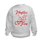 Phyllis On Fire Kids Sweatshirt