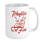 Phyllis On Fire Large Mug