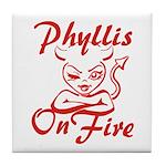 Phyllis On Fire Tile Coaster