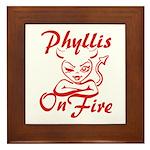 Phyllis On Fire Framed Tile