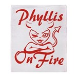 Phyllis On Fire Throw Blanket